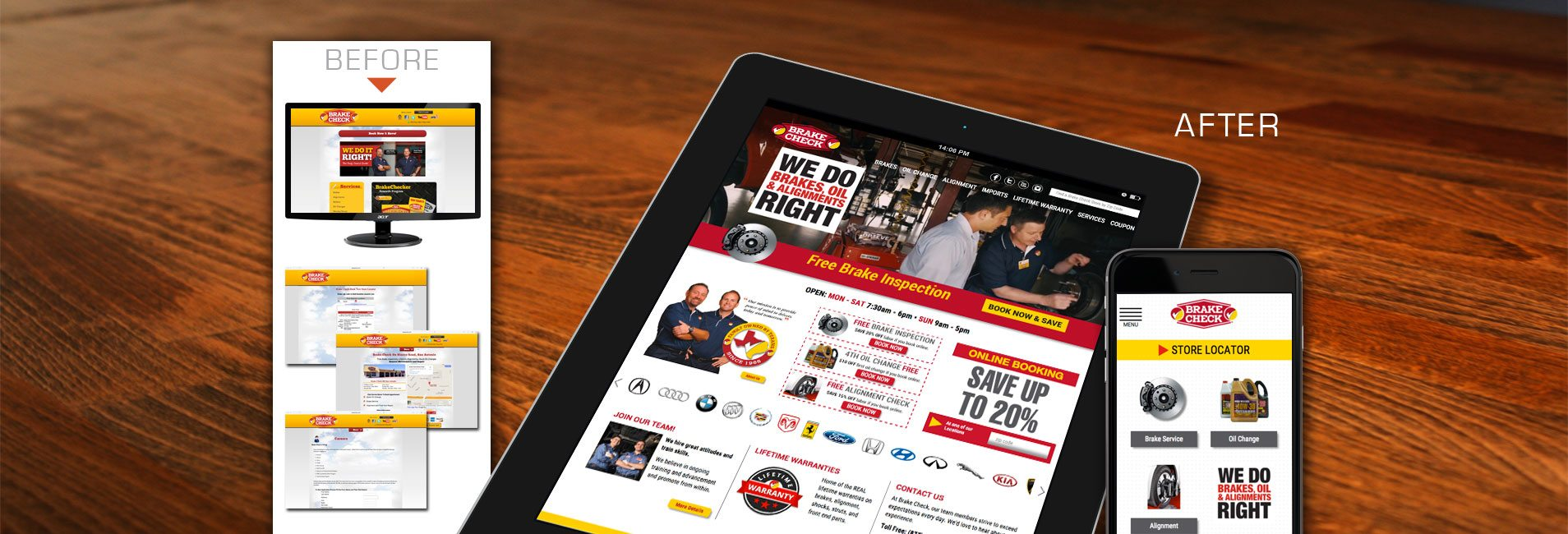 Before & After : Benson Web Design Company San Antonio TX