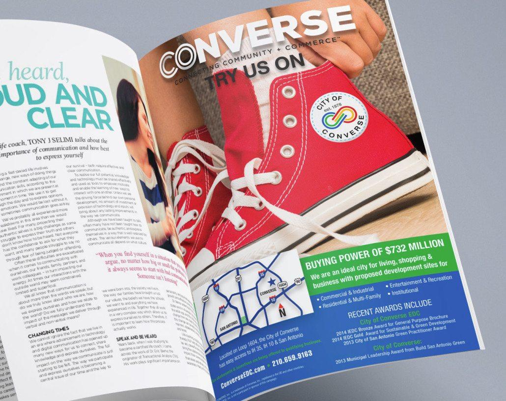 City of Converse Ad Benson Design